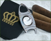 Silver 50 gauge Cigar Cutter - Oval
