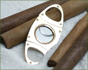 Gold 50 gauge Cigar Cutter - Oval