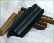 Cigar Leather Case - Double