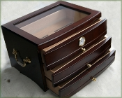 Clear Top Cherry Humidor