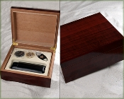 High Gloss Cherry Humidor Gift Set