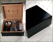 Humidor Gift Set in Black