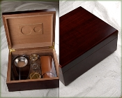 Humidor Gift Set in Cherry