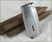 Coiibri Volt - Single Blue Torch Lighter in Silver